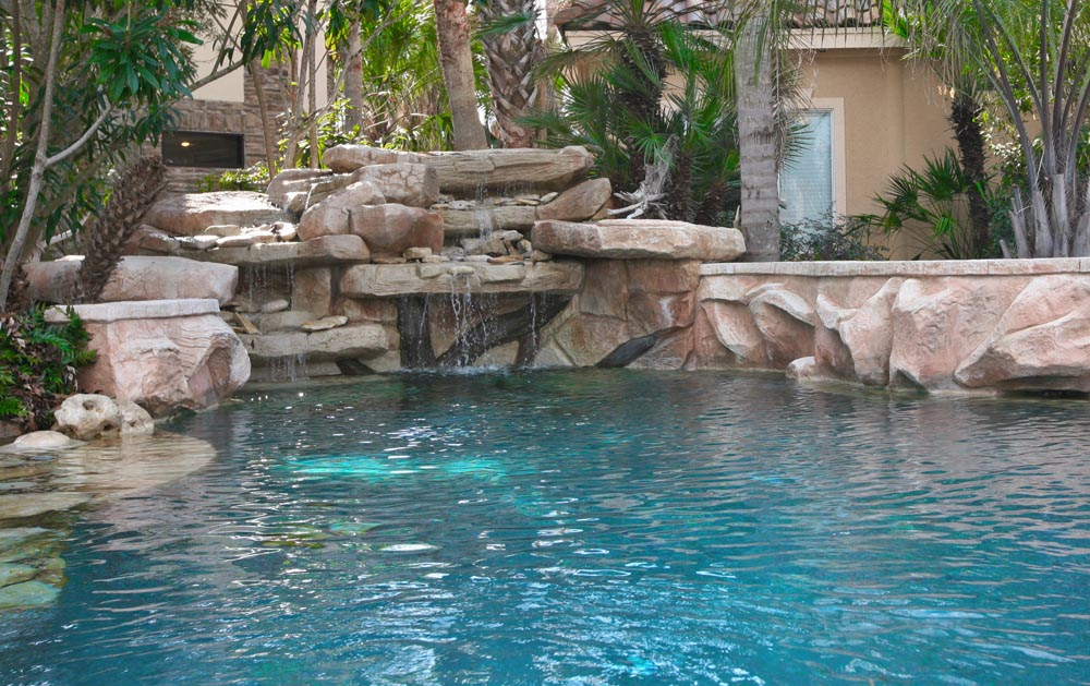 Katy Water Features Photos Houston Waterfalls Raised Spas