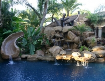 Pool with Grotto and Pool Slide