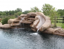 Pool with Grotto and Slide