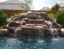 Pool with Large Waterfall