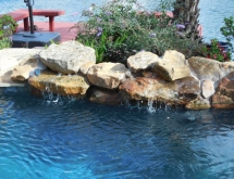Pool with Moss Rock and Weeping Rocks