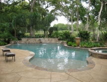 Pool with Raised Wall with Sheer Descents
