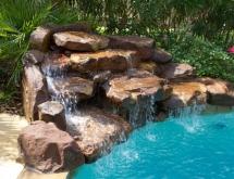 Pool with Rock Waterfall