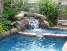 Pool with Small Waterfall in Spa