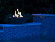 Pool with Spa and Firebowls