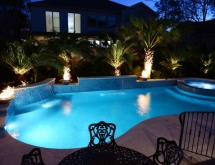 Pool with Spa and Firebowls and Sheer Descents