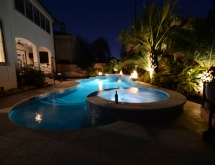 Pool with Spa and Sheer Descents