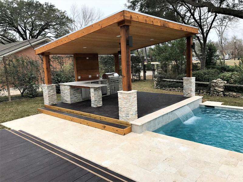 Houston Backyard Living | Katy Outdoor Kitchens The ... on Outdoor Kitchen Backyard id=91074