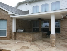 Covered Patio and Outdoor Kitchen