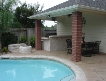 Covered Patio with Kitchen and Fire Pit