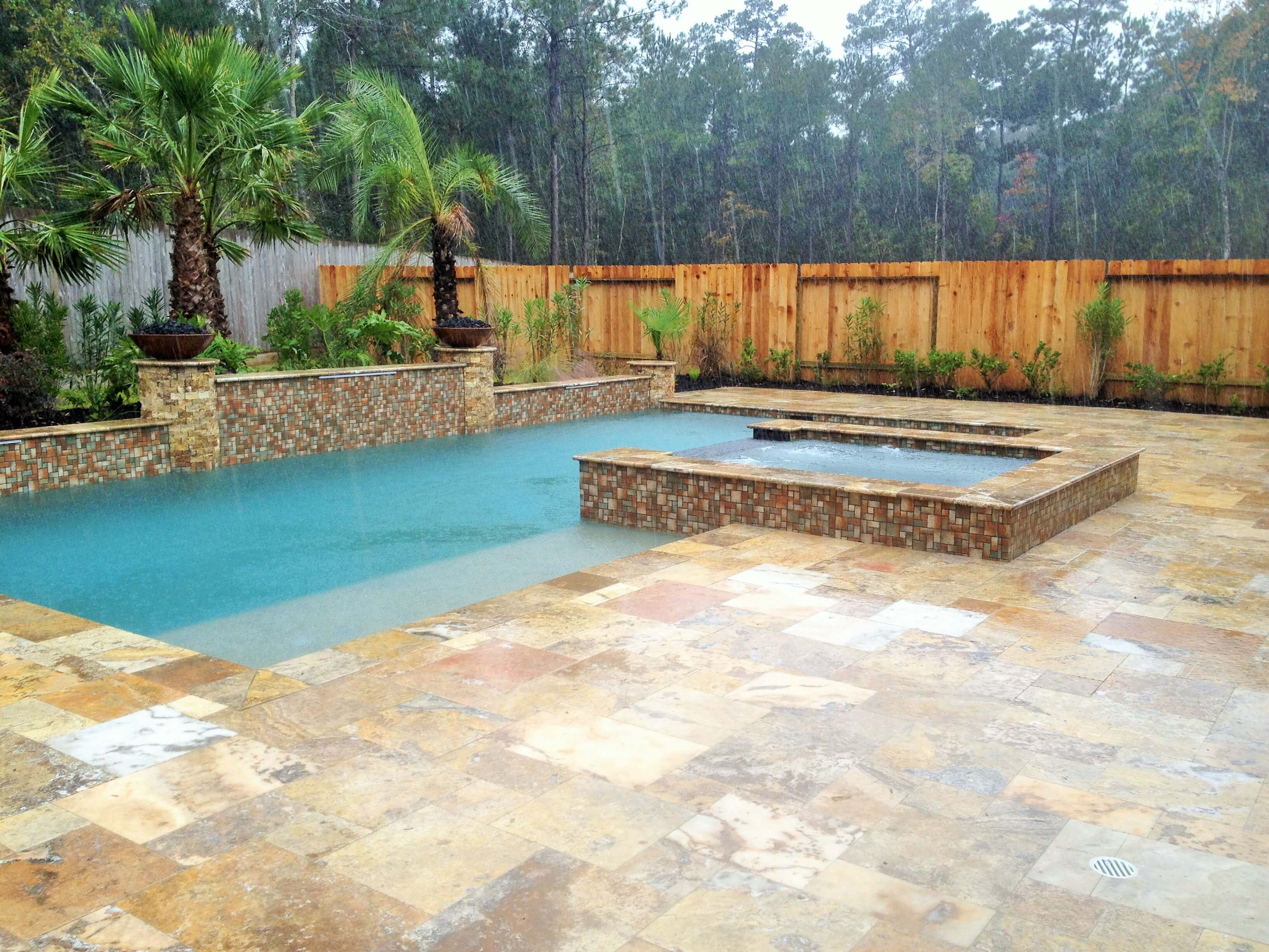 Pools spas gallery custom inground pools in houston for Pool design katy tx