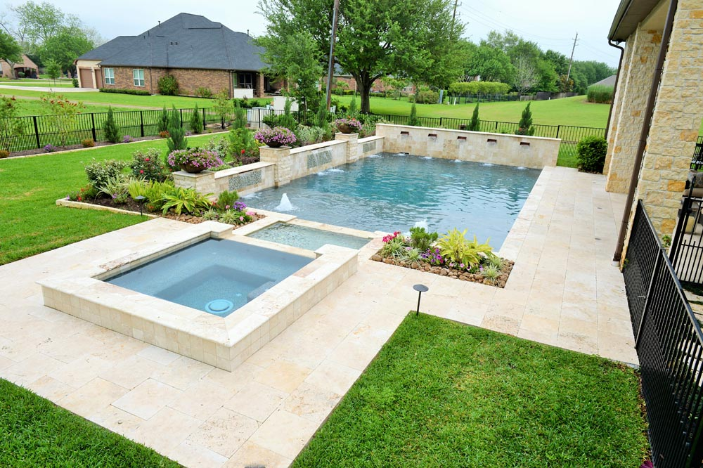 Pools spas gallery custom inground pools in houston for Spa and pool