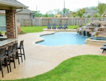 Freeform Swimming Pool with Kitchen Bar