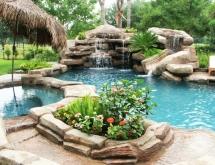 Freeform Pool with Waterfall