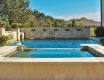 Pool and Spa with Sheer Descent