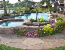 Pool with Spa and Landscaping