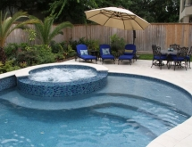 Pools spas gallery custom inground pools in houston for Pool and spa show usa