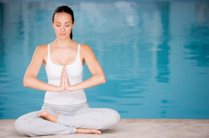Yoga + Your Pool = A Winning Exercise