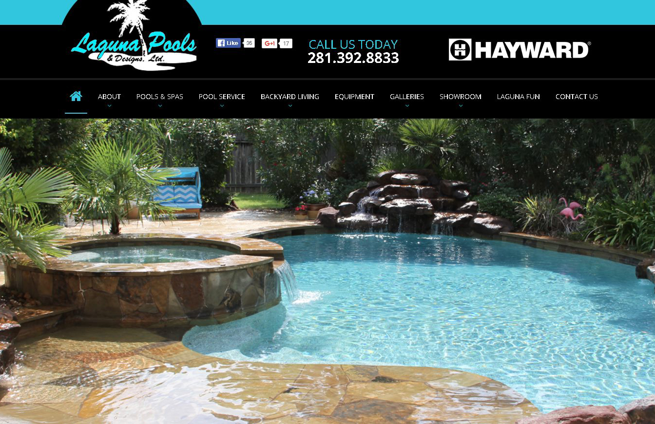 Laguna pools designs houston pool builder new web for Pool design website