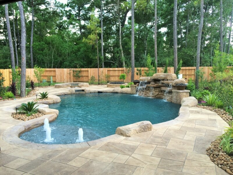 Stunning houston pool design photos decoration design for Pool design katy