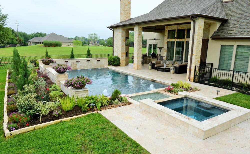 Fulshear building a new pool houston pool builder katy for Pool design katy
