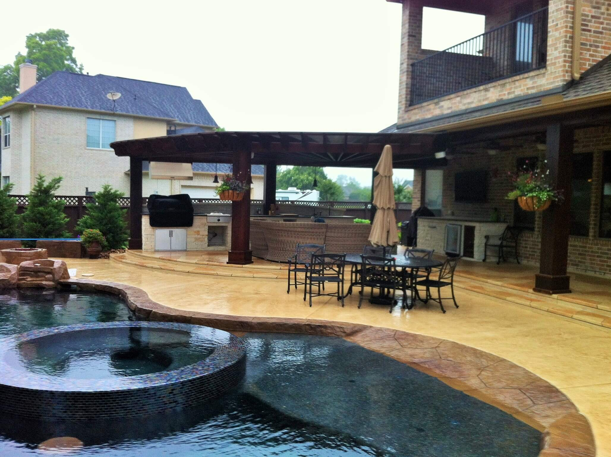 Katy pool design houston pool builder fulshear outdoor living for Pool design katy